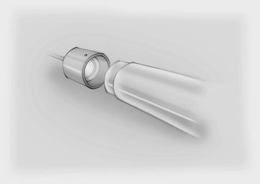 Sketch Chandelier Component Acrylic Baton Nulty Bespoke