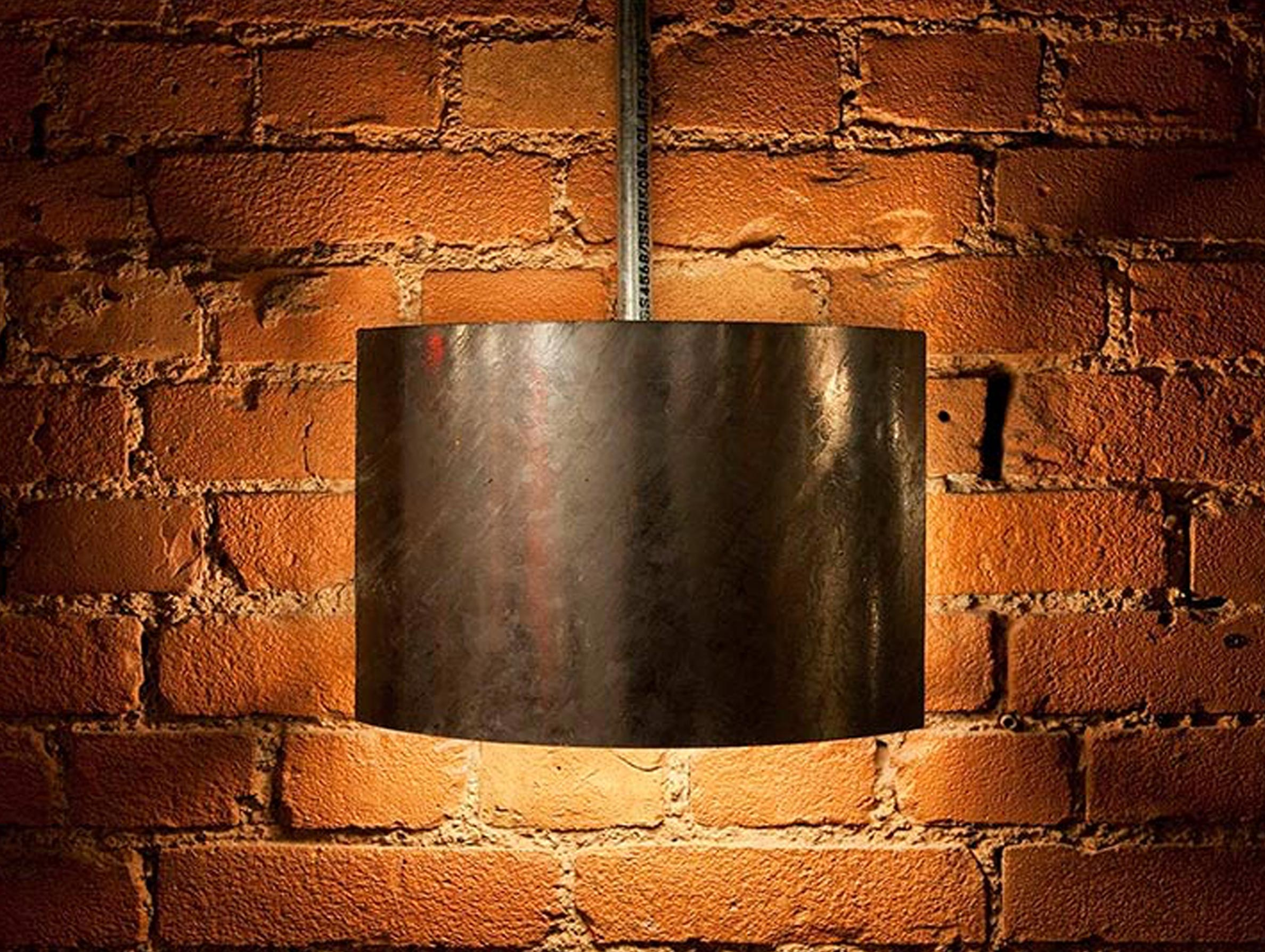 Custom Simple Steel Wall Light Exposed Bricks Restaurant Nulty Bespoke
