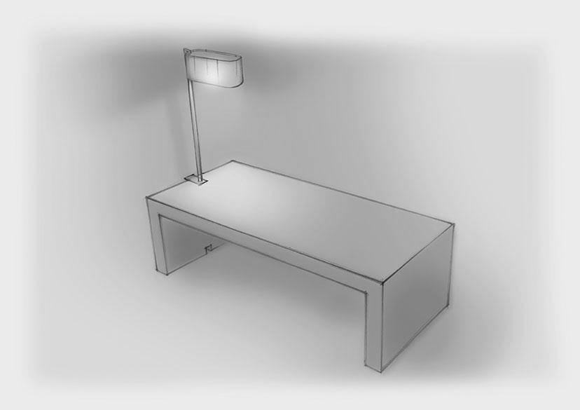 Sketch Custom Table Mounted Light Royal Nulty Bespoke