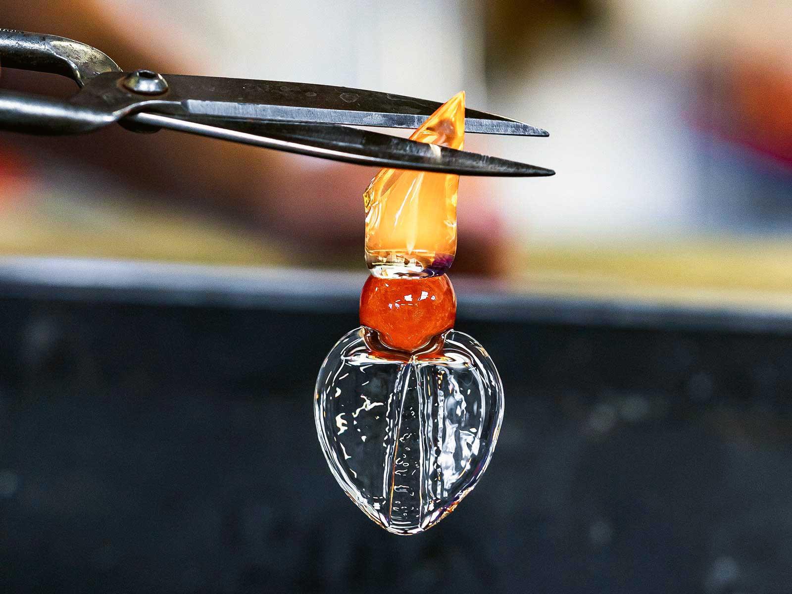 Glassblowing Process Delicate Winged Birds Custom Lighting Installation London Nulty Bespoke