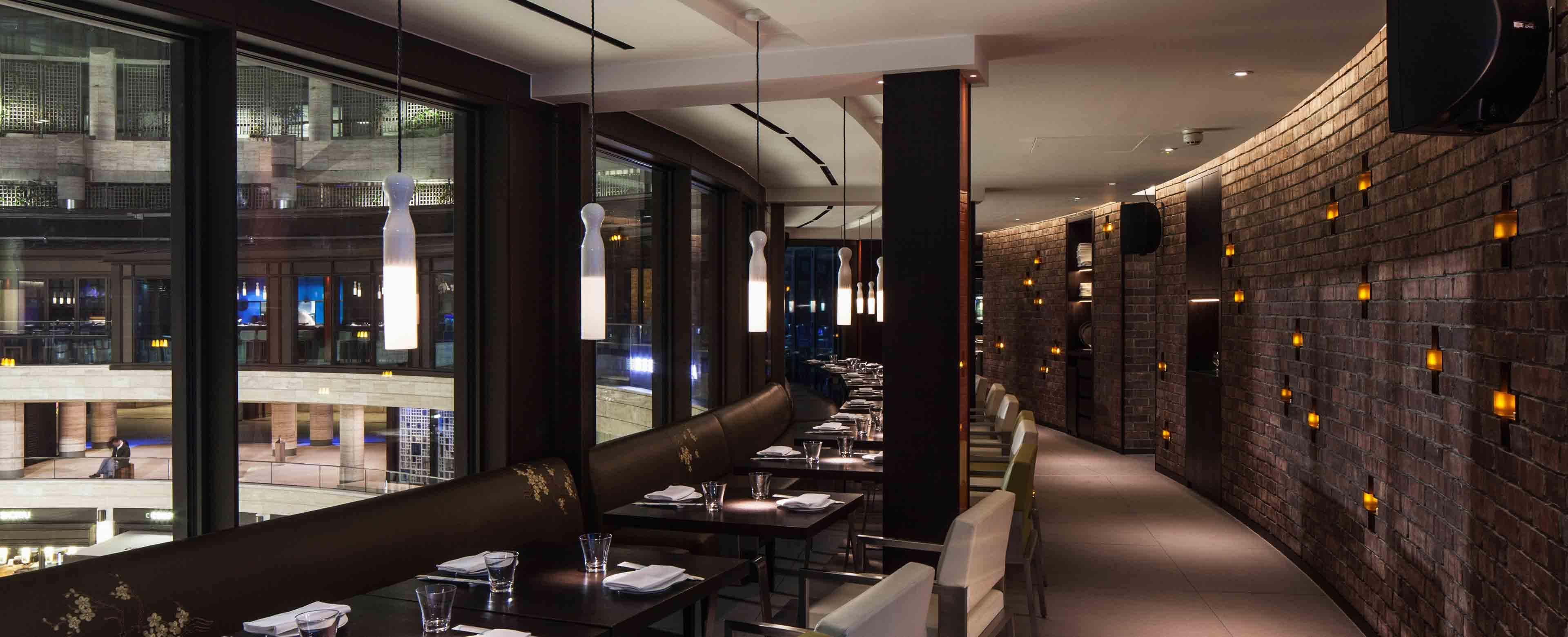 Integrated Wall Lights Glazed Ceramic Lanterns Restaurant Nulty Bespoke