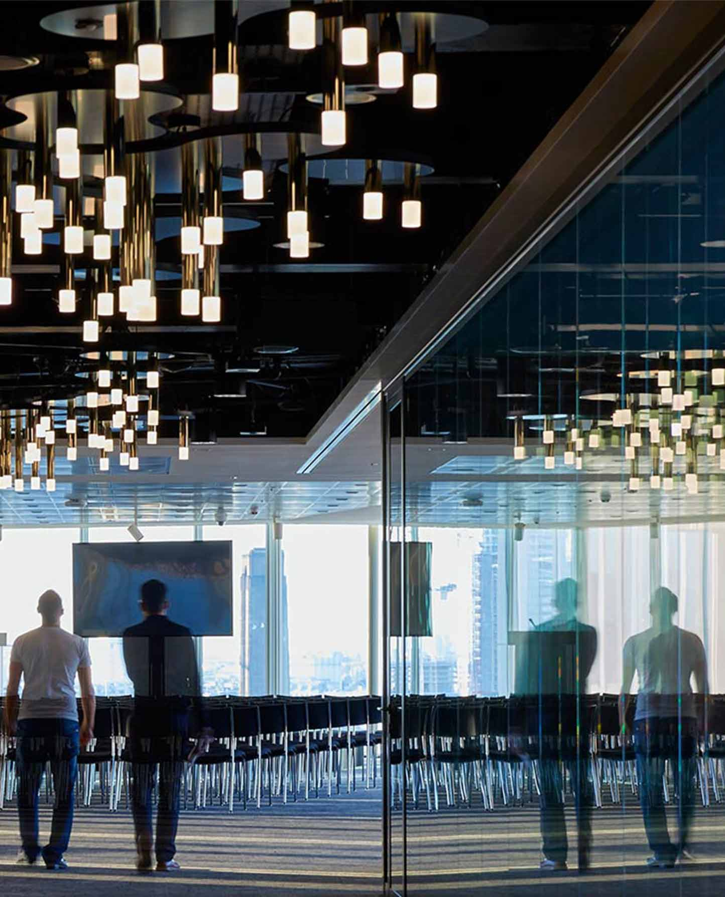 Tessellating Light Sculptures Ceiling Executive Offices Nulty Bespoke
