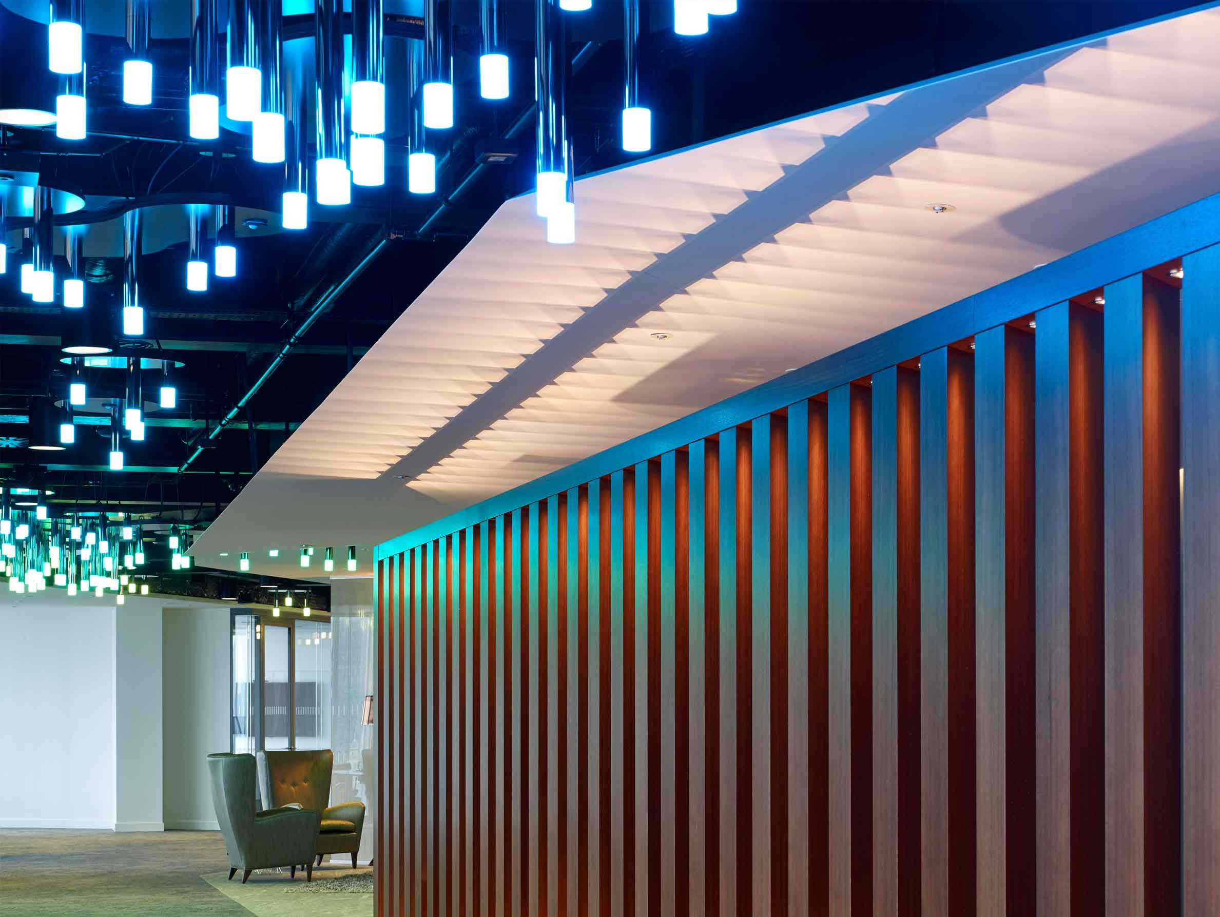 Motion Sensitive Light Sculpture Smoked Chrome Plated Rods Nulty Bespoke
