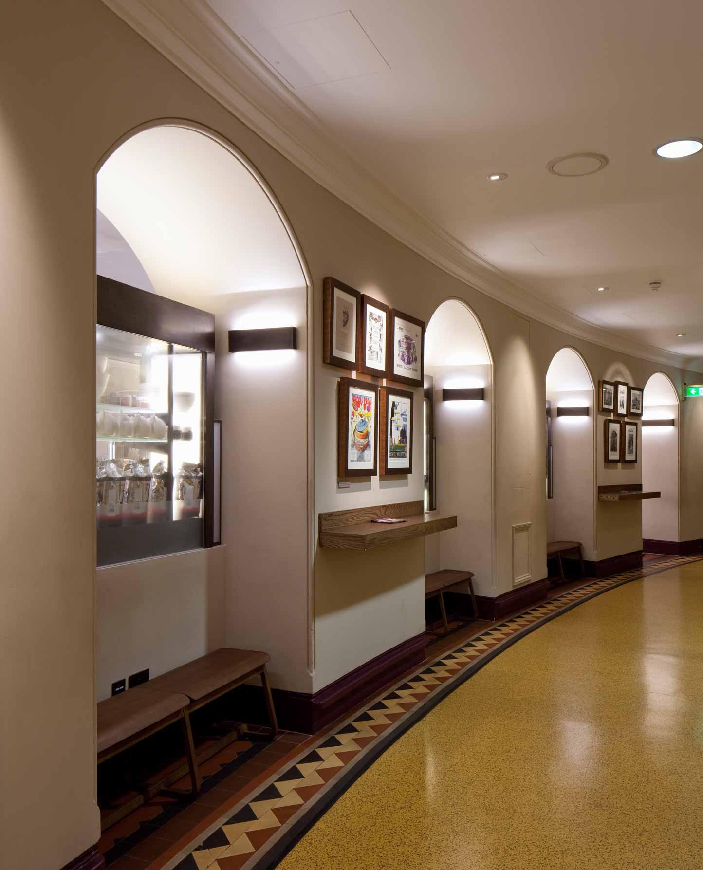 Illuminated Arches Corridor Royal Albert Hall Wall Lights Nulty Bespoke