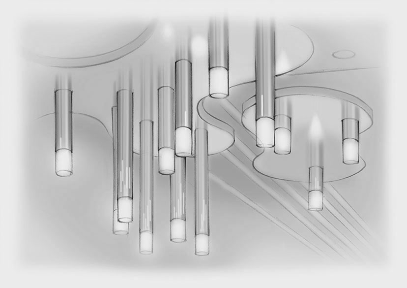 Sketch Custom Stalactites Light Installation Lily Pad Nulty Bespoke