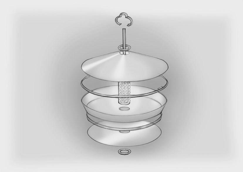 Sketch Construction Silk Pendants Custom Nulty Bespoke